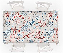XIUJC Christmas Rectangle Square Tablecloth Linen