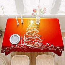 XIUJC Christmas tablecloth - Rectangle Tablecloth