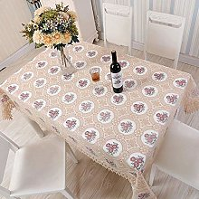 XIUJC European Style Lace Tablecloth, Christmas