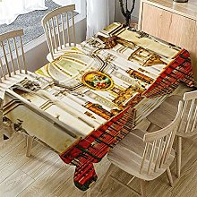 XIUJC Rectangle Linen Tablecloth Retro Church