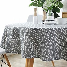 XIUJC Round Table Cloth, Simple Nordic Style