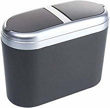 XIUYU Car Trash Can With Lid, Car Storage Bin,