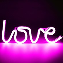 XIYUNTE Pink Love Neon Light Led Neon Sign Wall