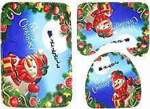 XIZHI 3-Piece Christmas Bath Rug and Mat