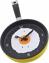 XIZHOUCUN Kitchen Theme Wall Clock Omelette Frying