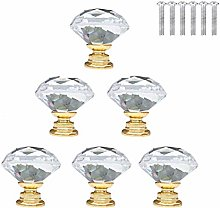 XIZONLIN 6pcs 30mm Crystal Glass Door Knobs Drawer