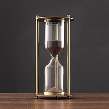 XJJZS Creative Metal Hourglass Sand Timer European