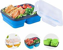 XJRHB 3 Cells Silica Disposable Lunch Boxes Lunch