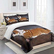 XKALXO Duvet Cover Set 3D Sofa animal dog Bedding