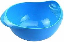 XKMY 2 In 1 Rice Slice Basket Colander Fruit