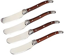 XKMY Butter knife Wooden handle stainless steel