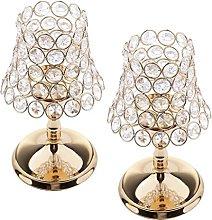 XKMY Candelabra for Wedding 2 Pieces Gold Pillar