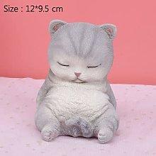 XKMY Cartoon Cat Miniature Model Sculpture Lazy