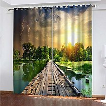 XKSJWY Blackout Curtains For Bedroom Living Room