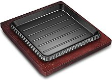 XKUN 2 Sets of Square cast Iron Steak Frying pan