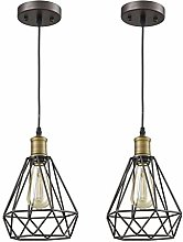 XKUN Industrial Retro Cage Ceiling Pendant Light