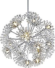 XKUN Modern Crystal Chandelier, Led Adjustable