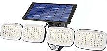 XKUN Solar Wall Light Four Heads Rotatable Outdoor