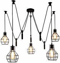 XKUN Vintage Chandelier Adjustable Pendant Light