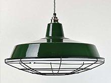 XL Classic Green Industrial Enamel Vintage Factory