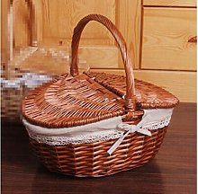 XLB Lid Food Bread Picnic BasketWith Wicker Basket
