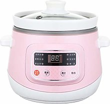XLLLL Electric Slow Cooker 1.2L Ceramic Liner Stew