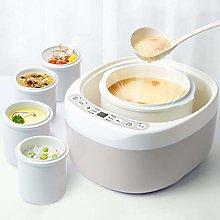 XLLLL Electric Stew Pot 2L Ceramic Liner Slow