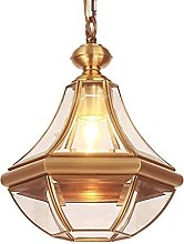 XLTFZY Chandelier Ceiling Lamp Copper Small