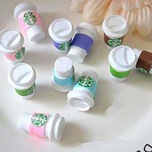 xmwm 5/10PCS Resin Coffee Cup Slime Charms