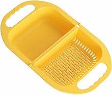 xmwm Folding drain basket, multifunctional
