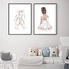 XMYC Abstract ArtBallet Dance Girl Baby Nursery