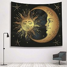 xmydeshoop Tapestry Wall Hangings,Golden Sun And