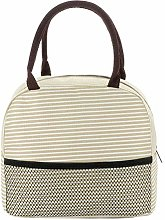 XMYNB Lunch Bag Insulated Lunch Bag Thermal Stripe