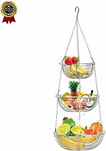 XNDCYX 3-Tier Hanging Fruit Basket, Vegetable