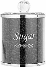 Xpork Black Crystal Jam Jar Diamond Crushed Black