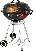 Xpork Charcoal Barbecue Grill with Wheels 22-Inch