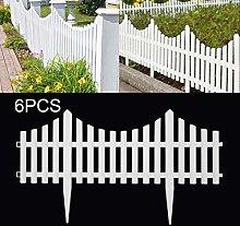 Xpork White Plastic Fence, 6 Pack Plastic Effect