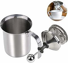 XPuing Manual Milk Frother with Lid Handheld