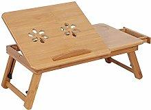 XQAQX Bed Lap Desk, 1Pc Adjustable Bamboo Rack