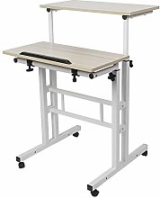 XQAQX Stand Up Laptop Desk, 60cm Adjustable Height