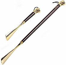 XQKQ Long Handle Shoe Horn,Shoe s Alloy Copper