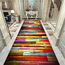 XQKXHZ Carpet Runners, Colorful Patchwork Wood