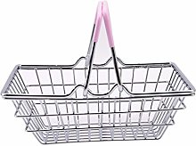 XQWR Mini Metal Shopping Basket Children Role Play