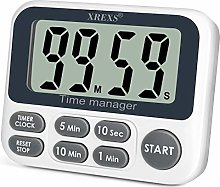 XREXS Digital Kitchen Timer, Magnetic Countdown Up