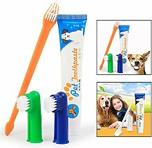 Xrten Pet Teeth Cleaning Kit, Pet Toothbrush and