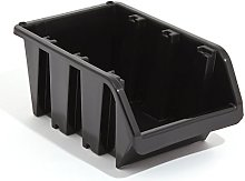 XS extra small mini black plastic storage bin