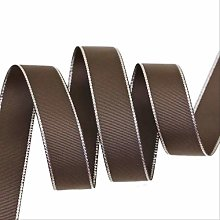 XSHIYQ 10 Yards/lot Silver Edged Grosgrain Ribbon
