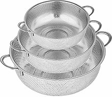 XSHIYQ 3 Set of Colander, Stainless Steel