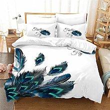 XSXS Peacock Reversable Quilt Duvet Cover Set