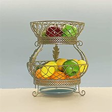 XT 2 Tiers Stand Fruit Plate,metal Wire Vegetable
